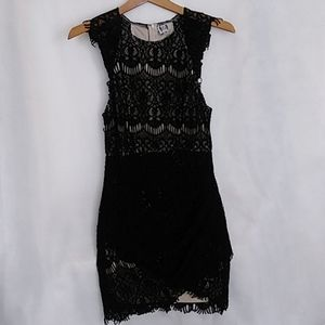 Anjda Body Black Dress Lace Over Size 10 Cup Sleev